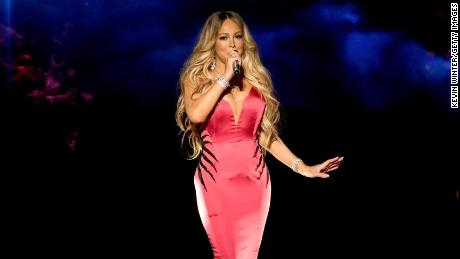 Mariah Carey performs on stage in Los Angeles in October 2018.