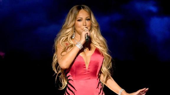 Mariah Carey performs on stage in Los Angeles in October 2018.
