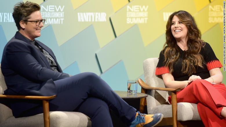 Hannah Gadsby and Monica Lewinsky speak at the Vanity Fair New Establishment Summit 2018.