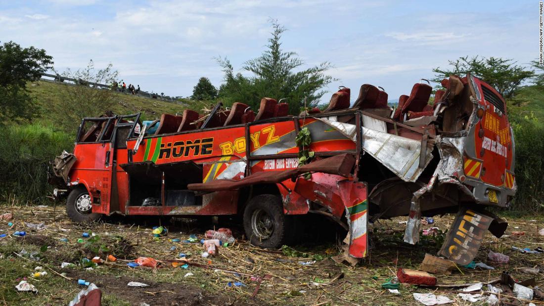 At least 50 killed in Kenya bus crash