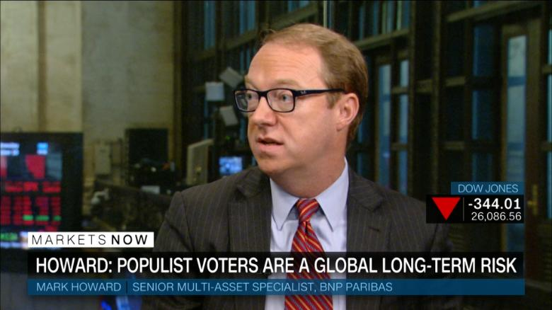 Howard: Populism is long-term risk for stocks