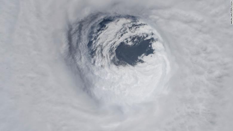 This photo made available by NASA shows they eye of Hurricane Michael, as seen from the International Space Station on Tropical Weather Space Station - 10 Oct 2018.