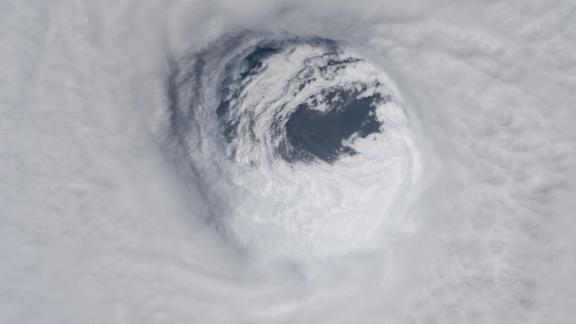 The eye of the storm, as seen from the International Space Station on October 10.