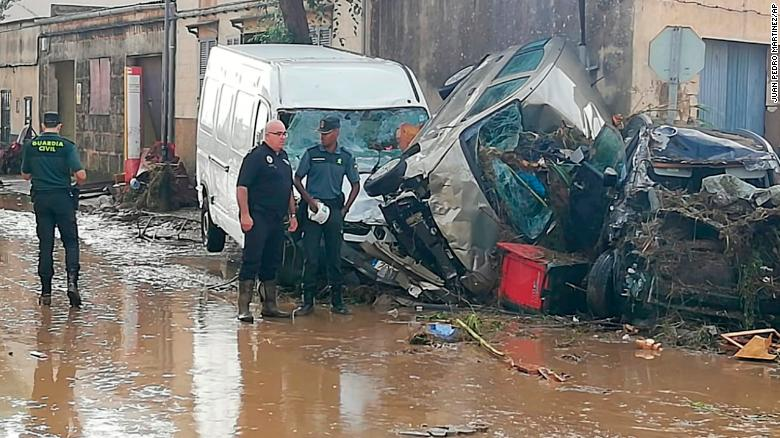 Deadly flash floods hit Majorca