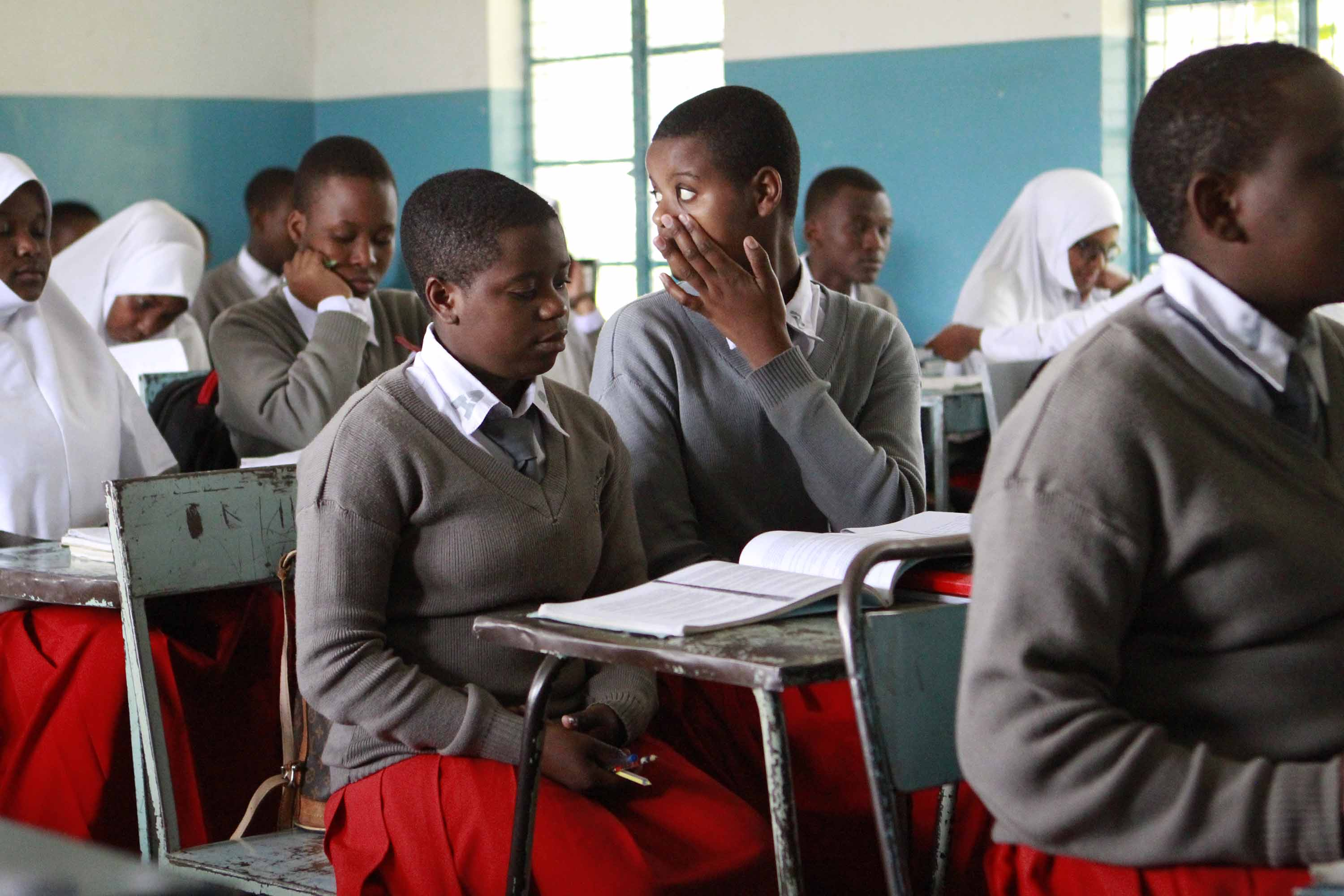 Students Attend Class At Arusha Secondary School-1273