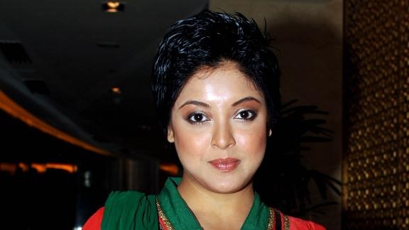 Indian actress Tanushree Dutta is seen at an event in Mumbai in 2012. She is one of a number of women who have recently come forward with accusations of assault and harassment at the hands of prominent Indian men in the entertainment and media industries.