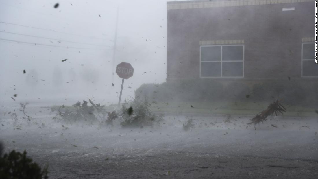 Flying debris: Watch Hurricane Michael's 155 mph winds