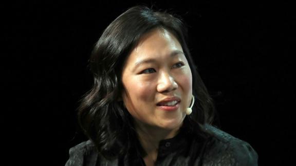 Priscilla Chan speaks during the 2018 TechCrunch Disrupt in San Francisco, California.