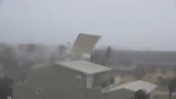 Hurricane Michael's powerful winds and devastating storm surge wreaked havoc in Panama City Beach, Florida.