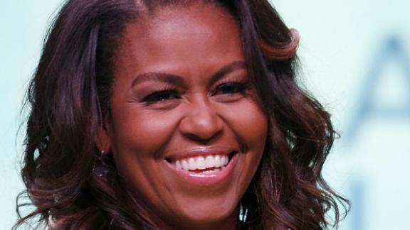 """NEW ORLEANS, LA - JUNE 22:  Former U.S. first lady Michelle Obama discusses her forthcoming memoir titled, """"Becoming"""", during the 2018 American Library Association Annual Conference on June 22, 2018 in New Orleans, Louisiana.  (Photo by Jonathan Bachman/Getty Images)"""