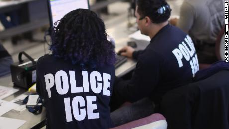 NEW YORK, NY - APRIL 11:  U.S. Immigration and Customs Enforcement (ICE), officers process detained undocumented immigrants on April 11, 2018 at the U.S. Federal Building in lower Manhattan, New York City. (Photo by John Moore/Getty Images)