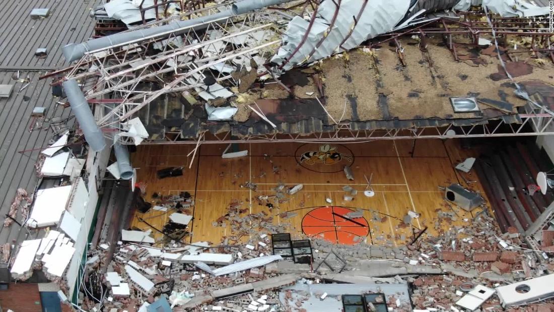 panama city beach drone footage shows gym devastated by storm cnn