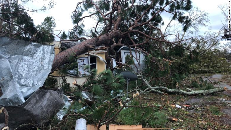 Residents said almost all homes in a Panama City mobile home park were damaged.