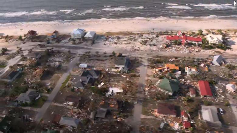 AFTERMATH - Hurricane Michael 181011100117-02-mexico-beach-aerial-exlarge-169