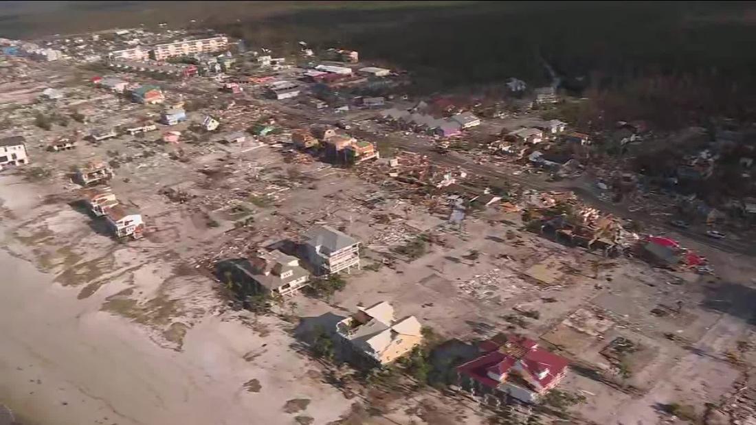 Aerial view shows catastrophic damage in Mexico Beach, FL - CNN Video