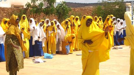 Somali girls at Galkayo Centre in Somalia where girls and their families are taught about dangers of FGM.