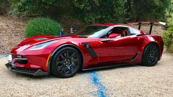 The Genovation GXE is an electric car made from a Chevrolet Corvette.