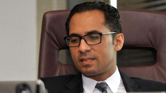 Tanzanian businessman Mohammed Dewji at his office in Dar es Salaam on April 23, 2015.