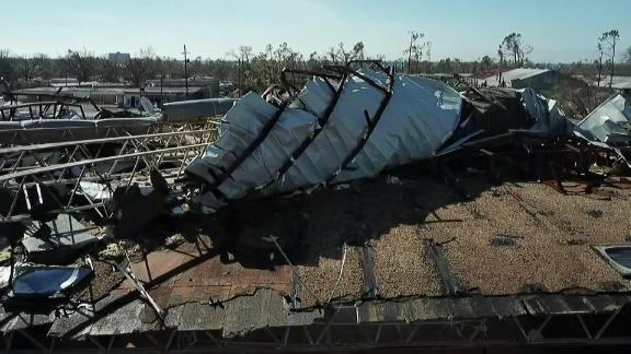 Much of Jinks Middle School lies in ruins after Hurricane Michael.