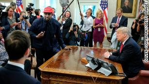 See Kanye and Trump's full White House meeting