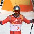 Aksel Lund Svindal Olympics downhill gold medal celebration