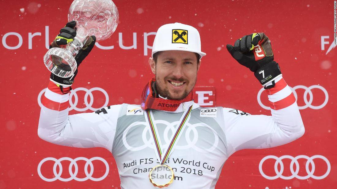 Austria's Marcel Hirscher is arguably the greatest ski racer ever with seven straight World Cup overall titles. The slalom specialist is a mega star in a skiing-obsessed nation.