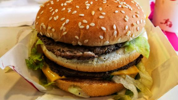 Shah Alam, Selangor Malaysia - September 2018 :Big Mac is a beef burger sold by McDonald's.It's consists of two beef, lettuce,cheese, pickles, and onions, served in a three-part sesame seed bun. ; Shutterstock ID 1195920244; Job: -