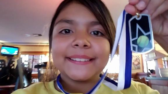 Sarah Radney, 11 years old, was killed when a carport flew into her grandparents