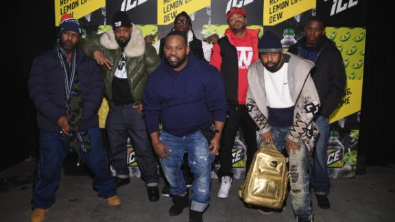 From left, Masta Killa, Ghostface Killah, RZA, Method Man, GZA, with Raekwon, front, and Cappadonna.