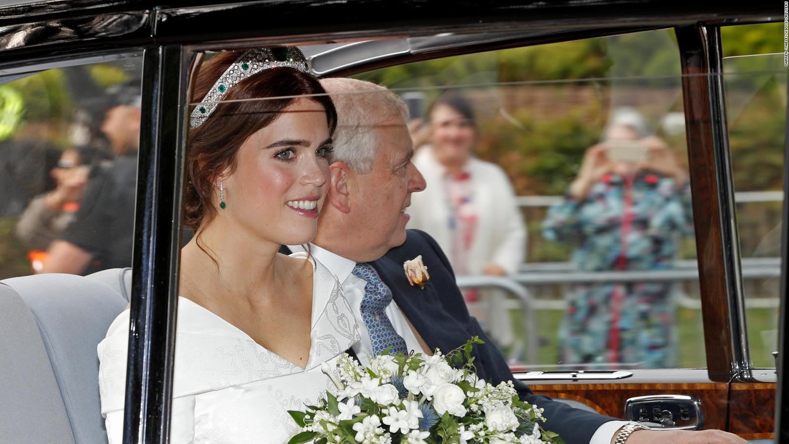 74eeb29369b6 Princess Eugenie makes bold statement with wedding dress revealing scars -  CNN Style