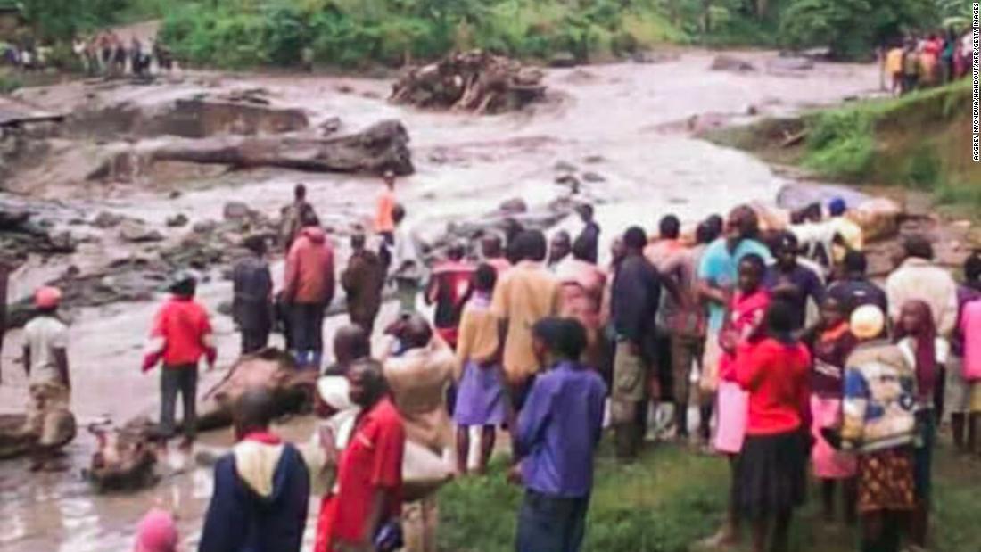 At least 34 killed in Uganda mudslides. floods