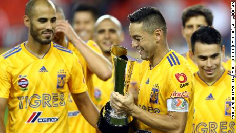 Tigres won the 2018 Campeones Cup Final trophy after victory against Toronto FC.