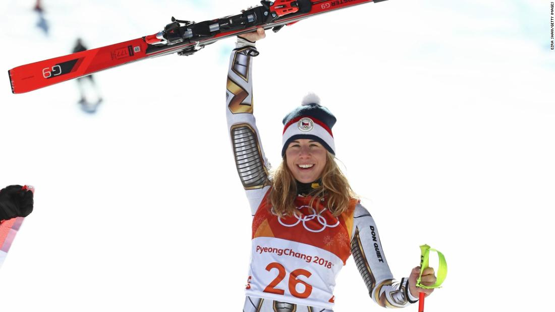 Czech sensation Ester Ledecka made history as the first athlete to win gold in two separate disciplines at the same Games in Pyeongchang. She scored a stunning super-G victory and added parallel giant slalom gold in her preferred sport of snowboarding. Definitely one to watch on the alpine circuit.