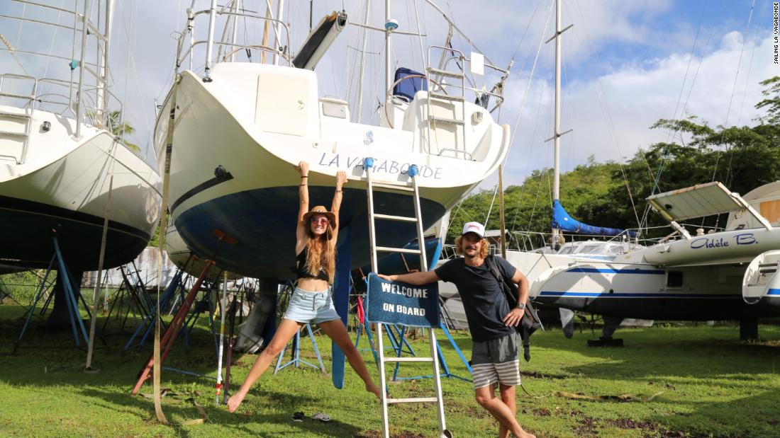 When they first started sailing together, they were on a 2007 Beneteau Cyclades.