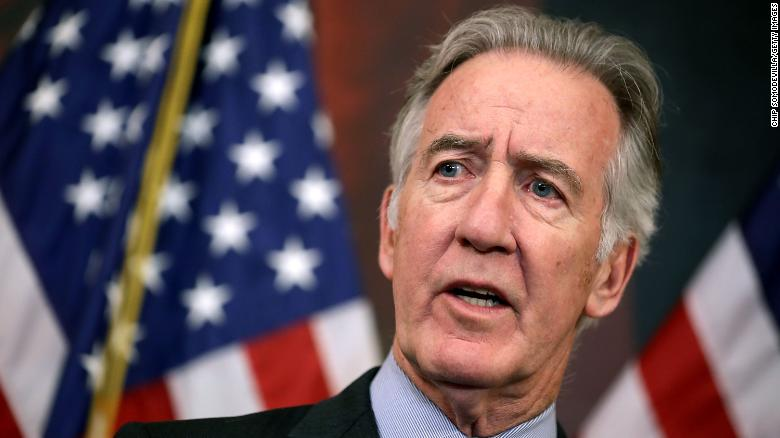 House Ways and Means Committee top Democrat Rep. Richard Neal of Massachusetts criticizes the Republican tax plan during a news conference in the Rayburn Room in November 2017. (Photo by Chip Somodevilla/Getty Images)