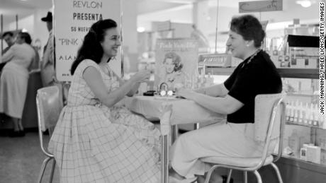 Beauty department of a sears store, 1955.