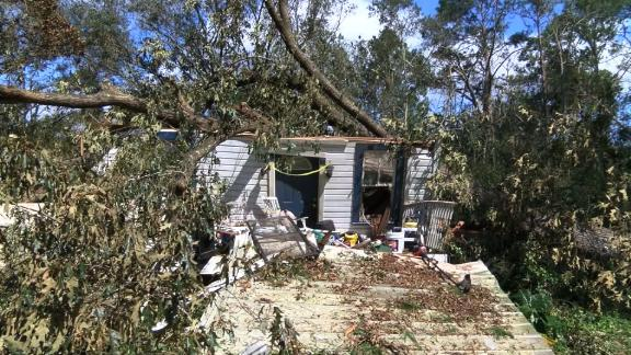A tree feel on a home near Greensboro, Florida during Hurricane Michael and killed 44-year-old Steven Sweet, the Gadsden County Sheriff's Office said.