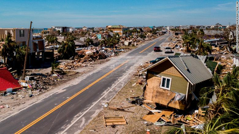 Mexico Beach, Florida, bore the brunt of the storm's wrath, authorities say.