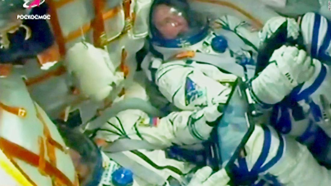 See astronauts' reaction from inside rocket