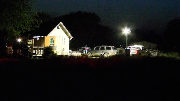 Four people were fatally shot at this house in Taft, Texas.