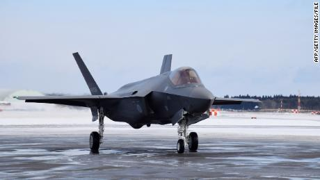 A Japanese F-35A arrives at Misawa Air Base in northern Japan in 2018.