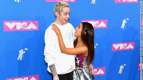 Pete Davidson joked about their split and Ariana Grande did this