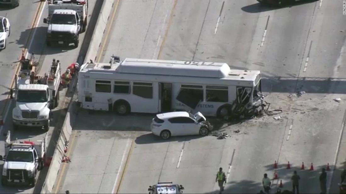Bus crash in Los Angeles injures at least 25 people