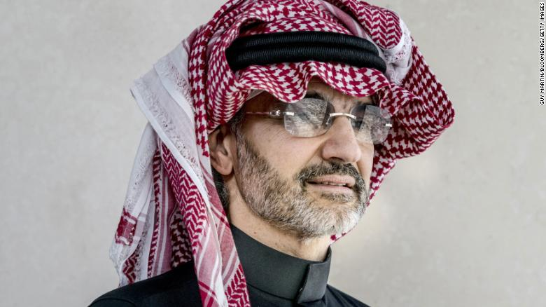 Saudi Prince Alwaleed Bin Talal, the billionaire founder of Kingdom Holding.