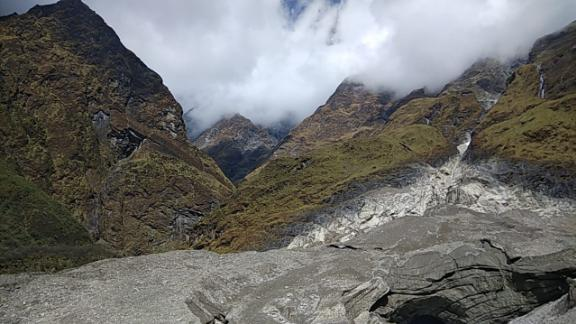 An image of Mount Gurja shared by rescue workers.