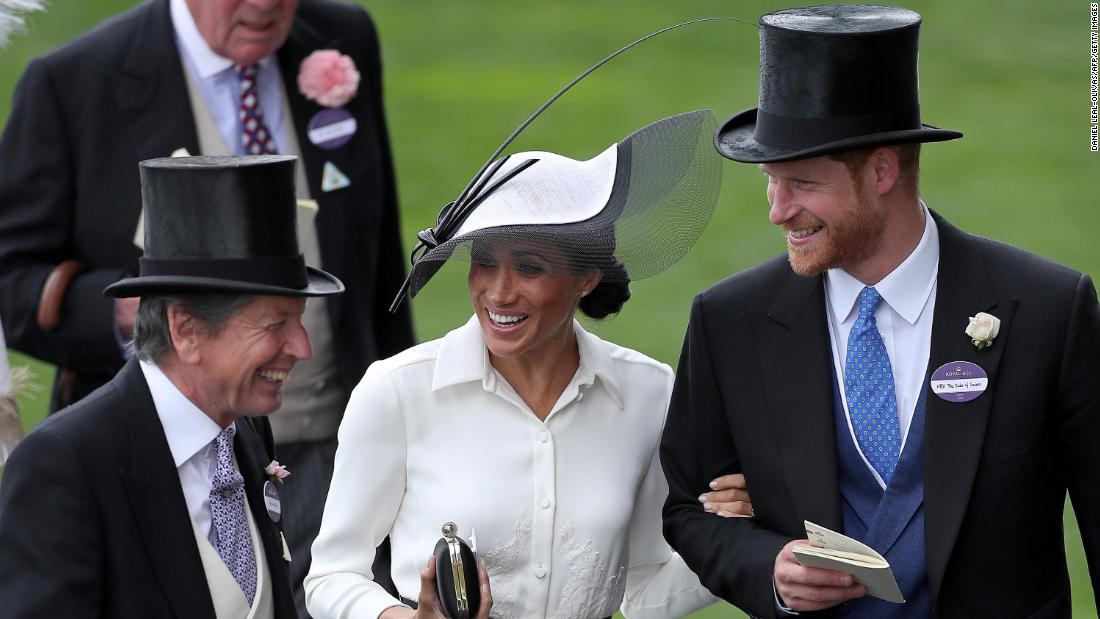 Meghan and Harry attend the Royal Ascot horse races in June.