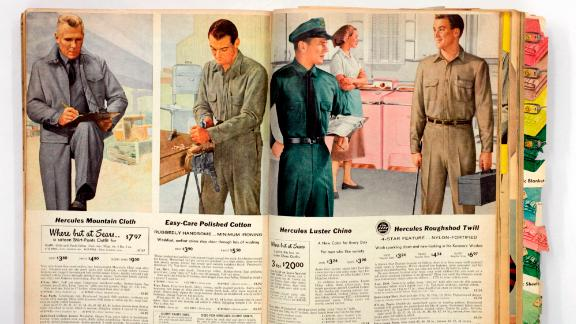 This is the fall/winter Sears catalog from 1957 ? men in uniforms. 11/13/07  (Photo by Annie Wells/Los Angeles Times via Getty Images)