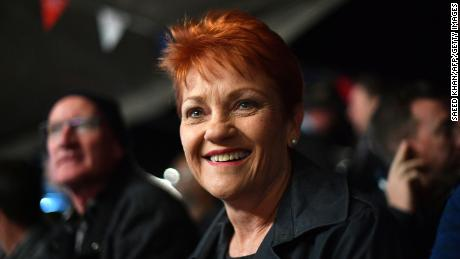 "One Nation Senator Pauline Hanson brought the motion to the Senate, saying people should be proud of their ""cultural background."""