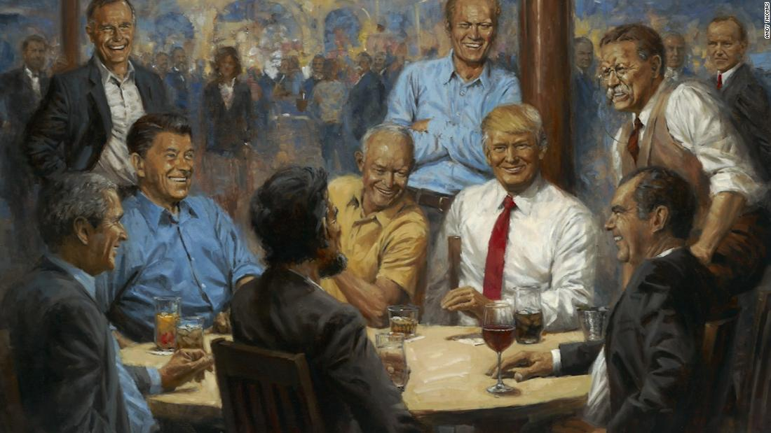 This is an actual painting on display in the White House