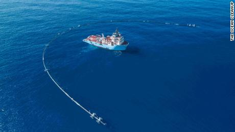 The massive floating device created to clean up plastic in the ocean has broken